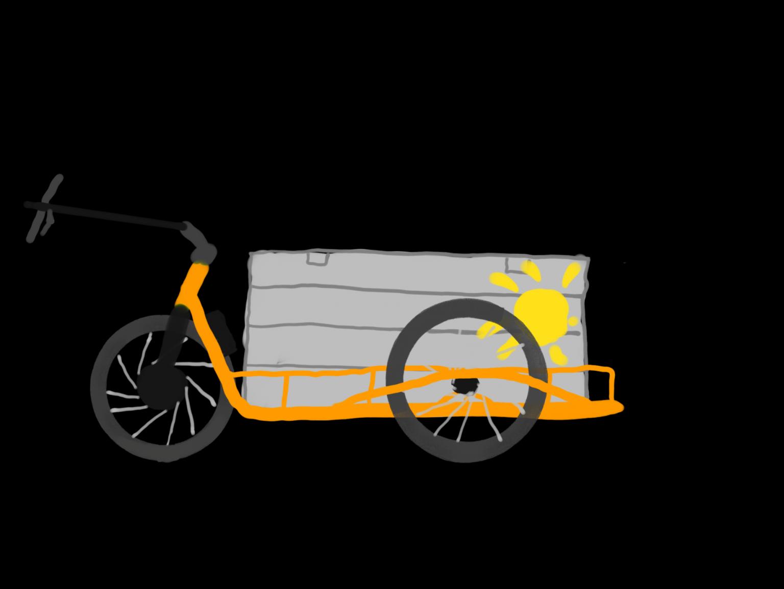 Logo CargoMalsch mit Kontur, Melonengelb